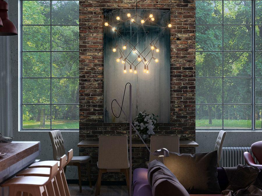 Arredamento stile industriale per loft dal design unico n.29