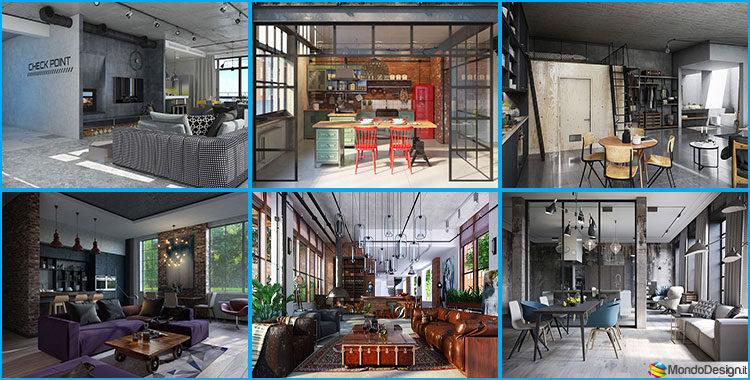Arredamento stile industriale loft immagini ispirazione for Arredamento industriale
