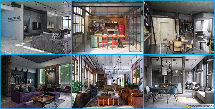 Arredamento stile industriale per loft 30 idee dal design for Arredamento per interni