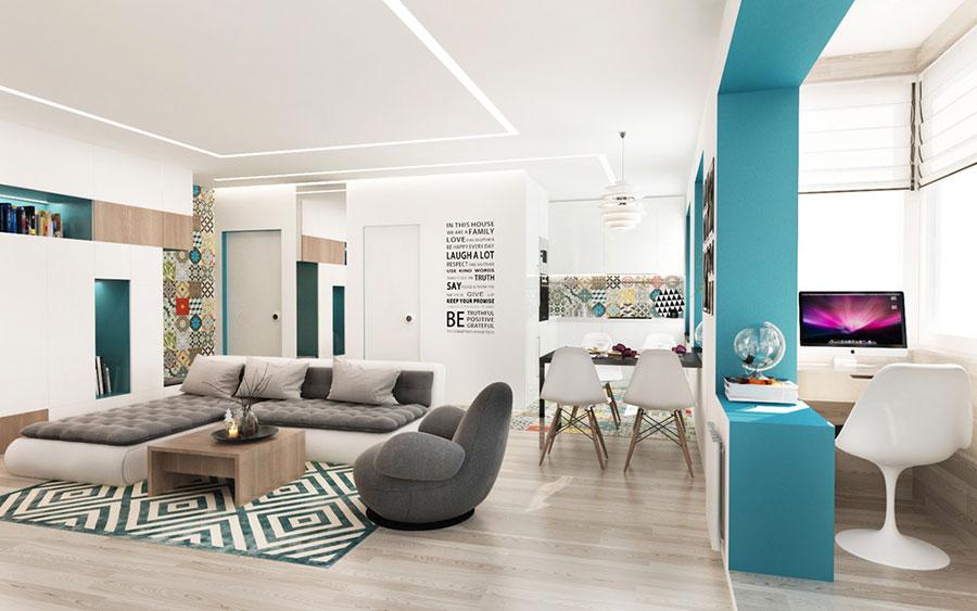Arredamento per un casa di 50 mq dal design moderno n.02