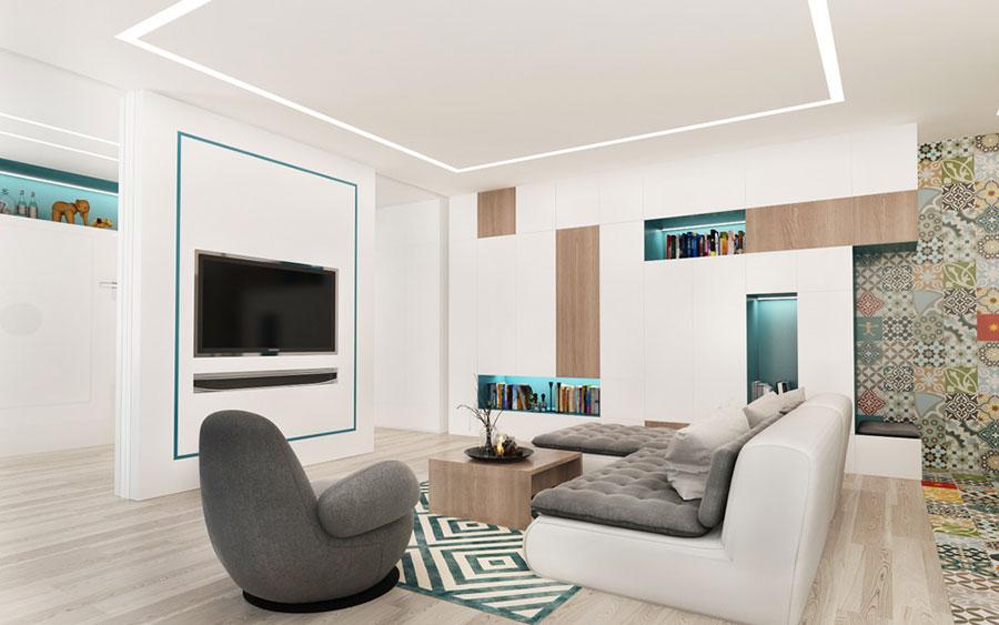 Arredamento per un casa di 50 mq dal design moderno n.03