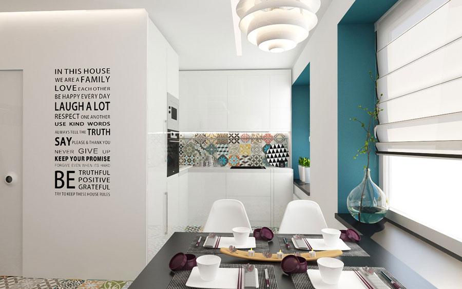Arredamento per un casa di 50 mq dal design moderno n.04