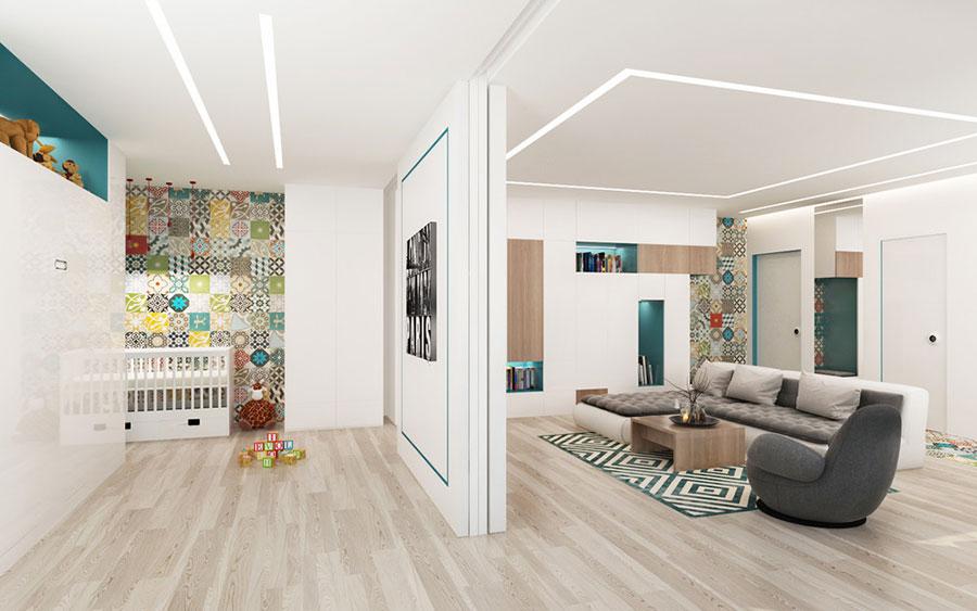 Arredamento per un casa di 50 mq dal design moderno n.05