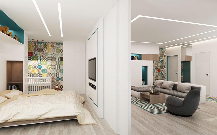 Arredamento per un casa di 50 mq dal design moderno n.06