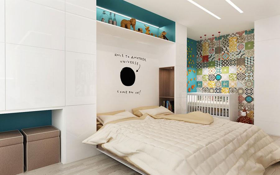 Arredamento per un casa di 50 mq dal design moderno n.07