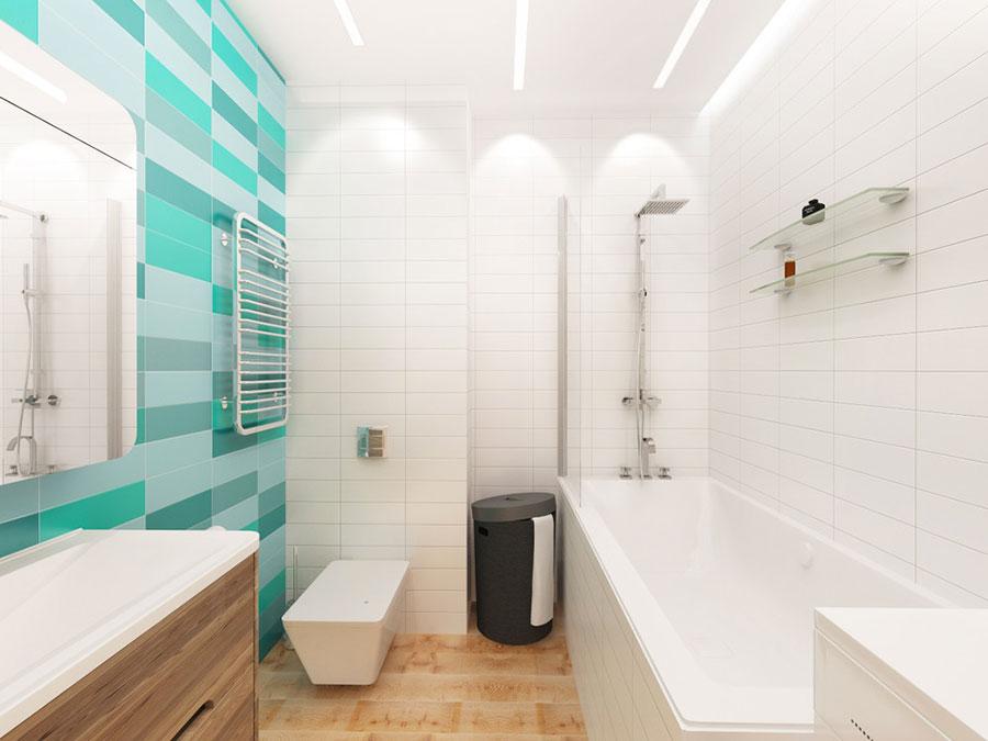 Arredamento per un casa di 50 mq dal design moderno n.08