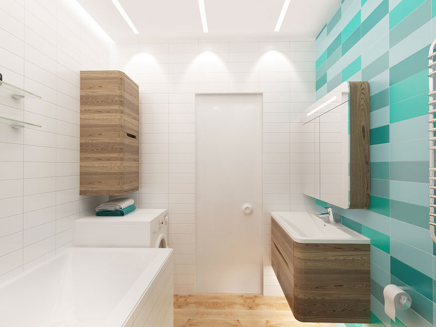 Arredamento per un casa di 50 mq dal design moderno n.09