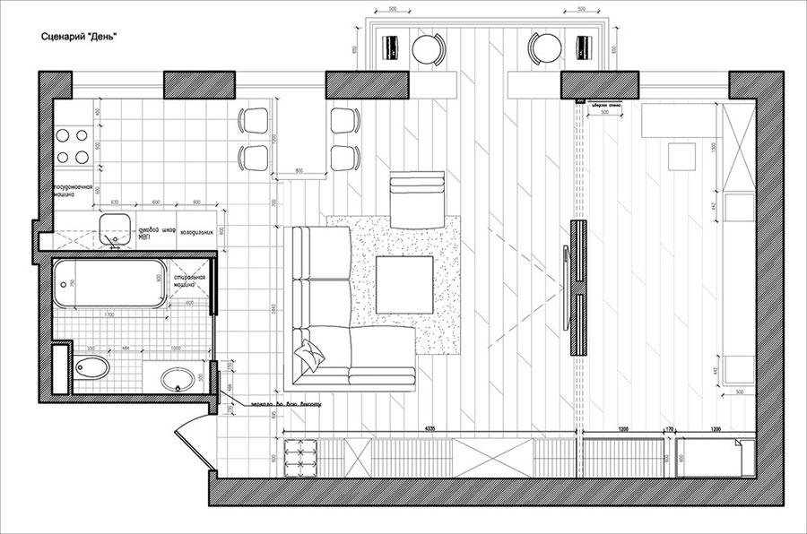 Arredamento per un casa di 50 mq dal design moderno n.10
