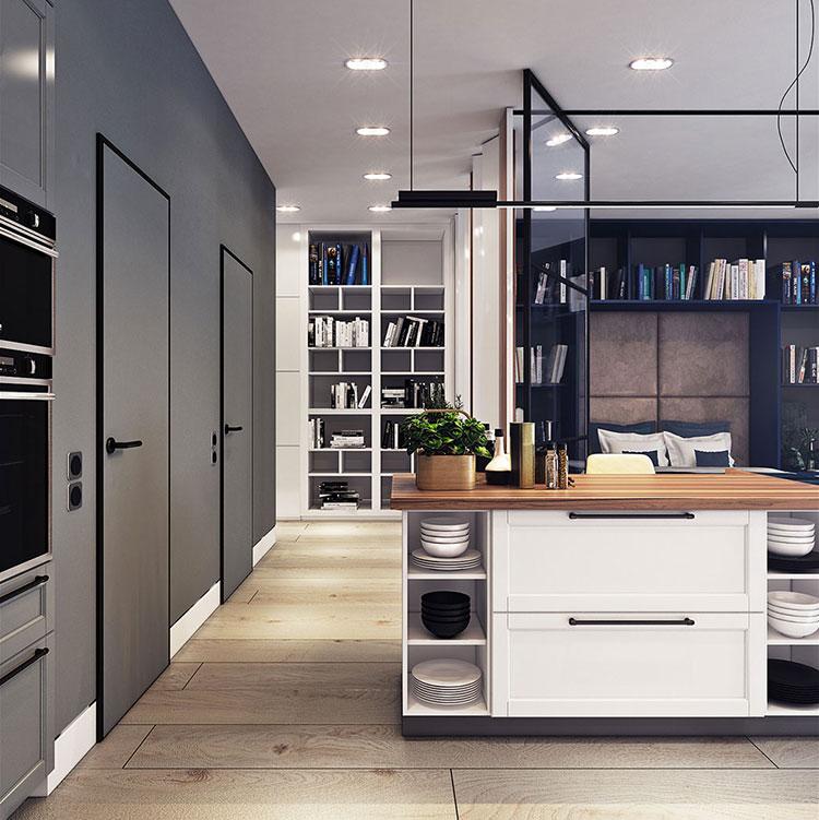 Arredamento per un casa di 50 mq dal design moderno n.11
