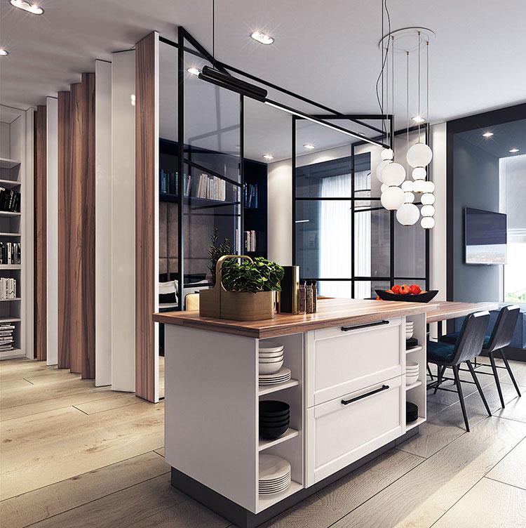 Arredamento per un casa di 50 mq dal design moderno n.12