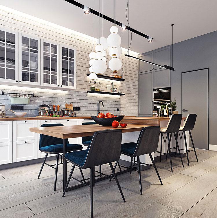 Arredamento per un casa di 50 mq dal design moderno n.13