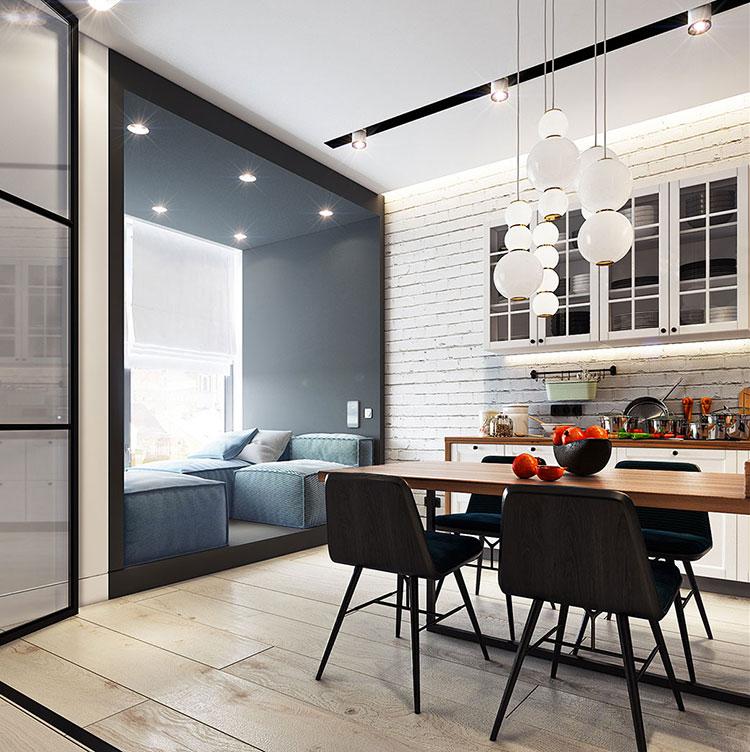 Arredamento per un casa di 50 mq dal design moderno n.14