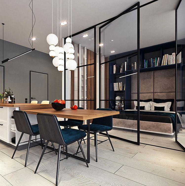 Arredamento per un casa di 50 mq dal design moderno n.16