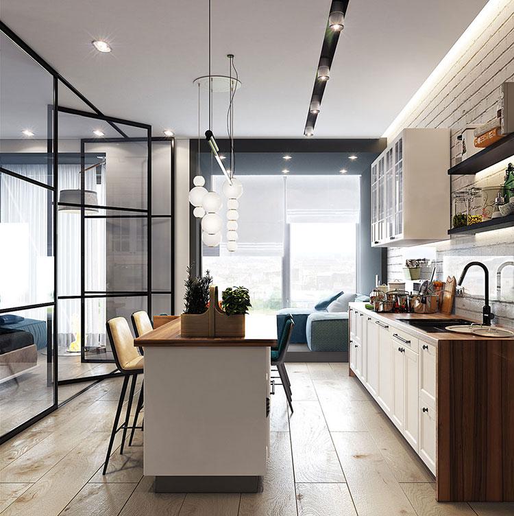 Arredamento per un casa di 50 mq dal design moderno n.17