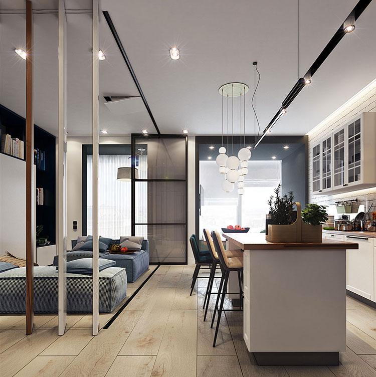 Arredamento per un casa di 50 mq dal design moderno n.18