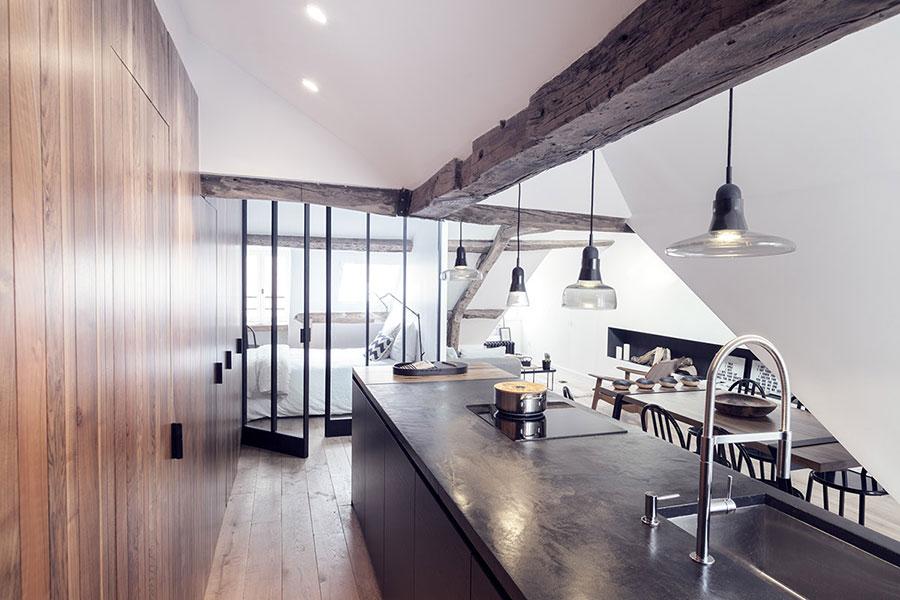 Arredamento per un casa di 50 mq dal design moderno n.21