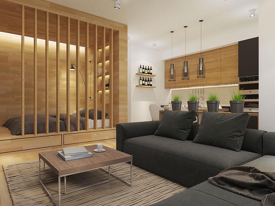 Arredamento per un casa di 50 mq dal design moderno n.32