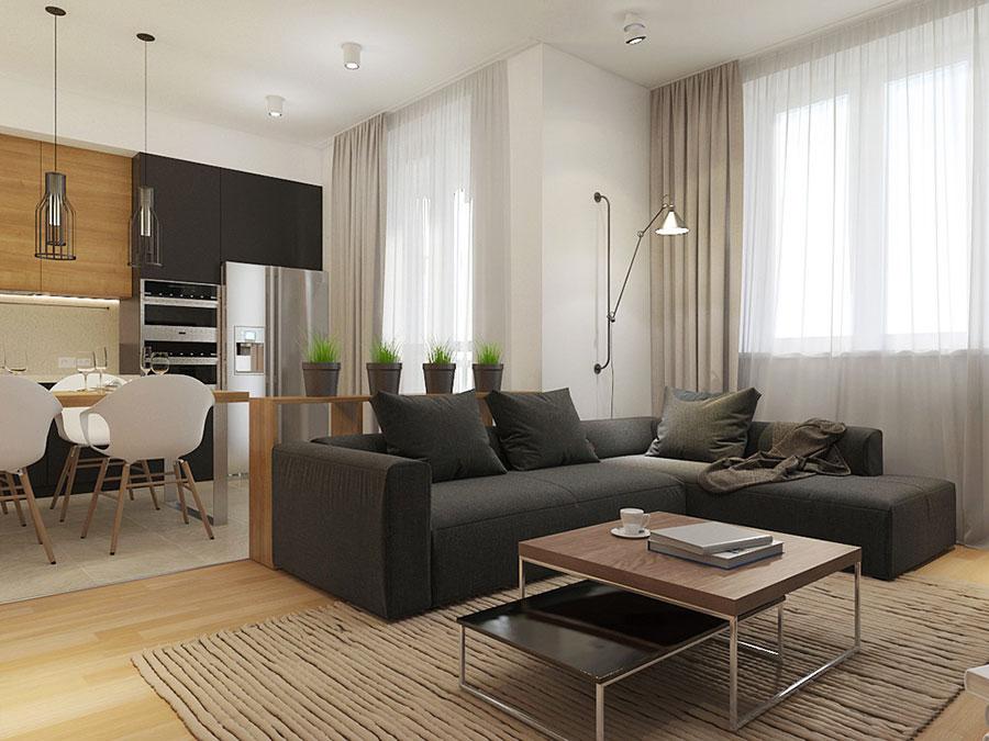 Arredamento per un casa di 50 mq dal design moderno n.33