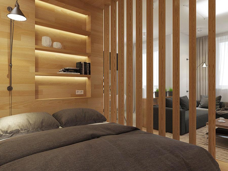 Arredamento per un casa di 50 mq dal design moderno n.34