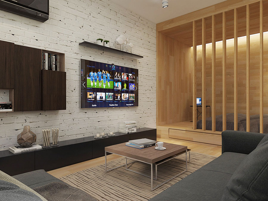 Arredamento per un casa di 50 mq dal design moderno n.35