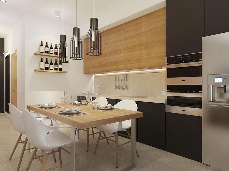 Arredamento per un casa di 50 mq dal design moderno n.36