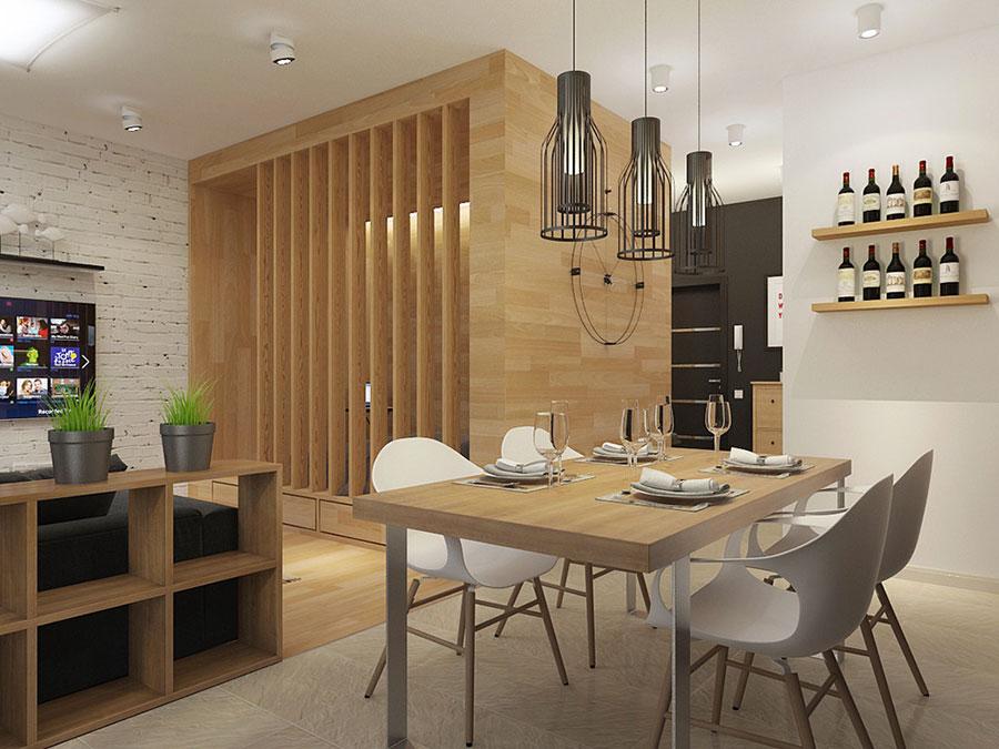 Arredamento per un casa di 50 mq dal design moderno n.37