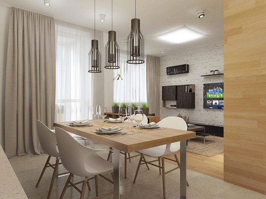 Arredamento per un casa di 50 mq dal design moderno n.38