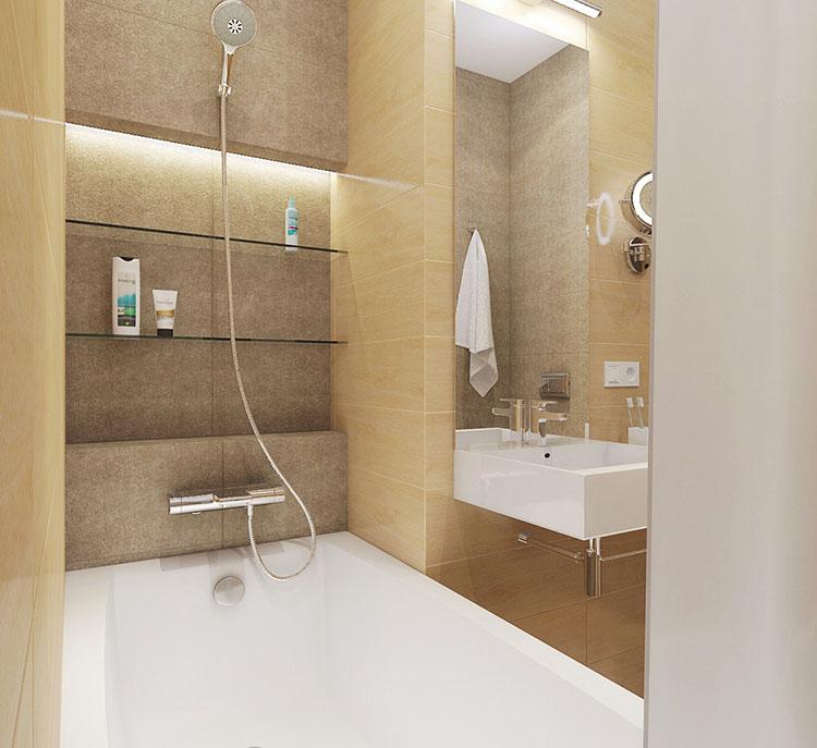Arredamento per un casa di 50 mq dal design moderno n.39