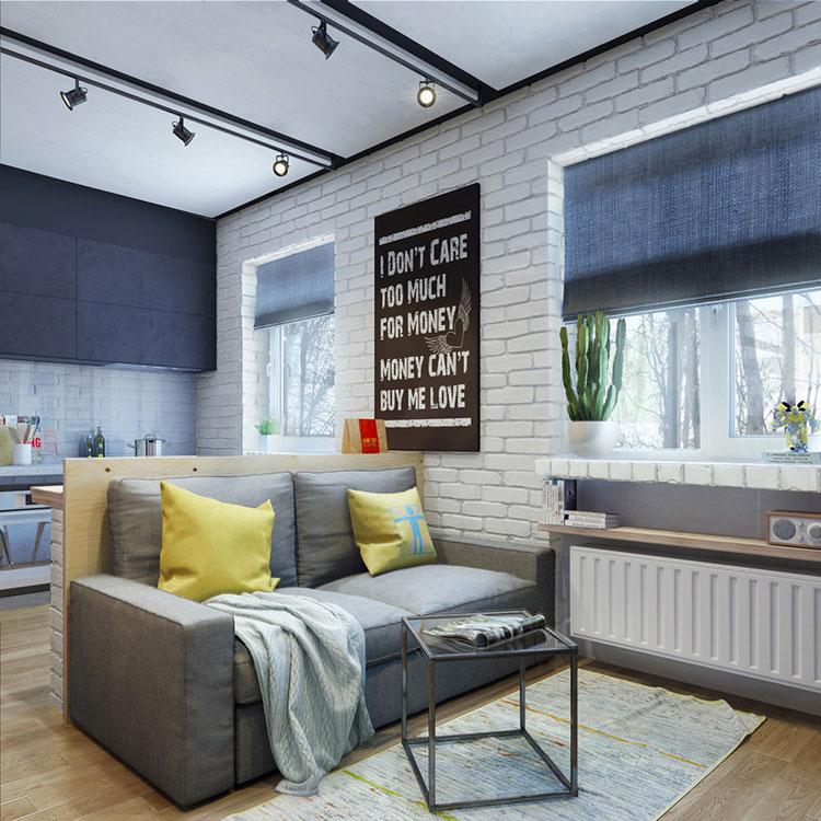 Arredamento per un casa di 50 mq dal design moderno n.41