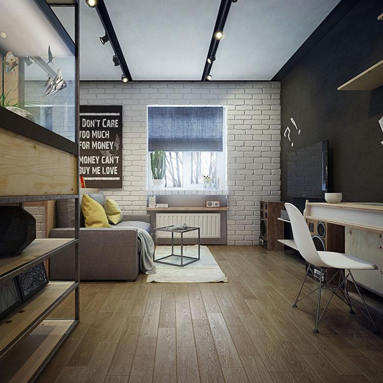 Arredamento per un casa di 50 mq dal design moderno n.42