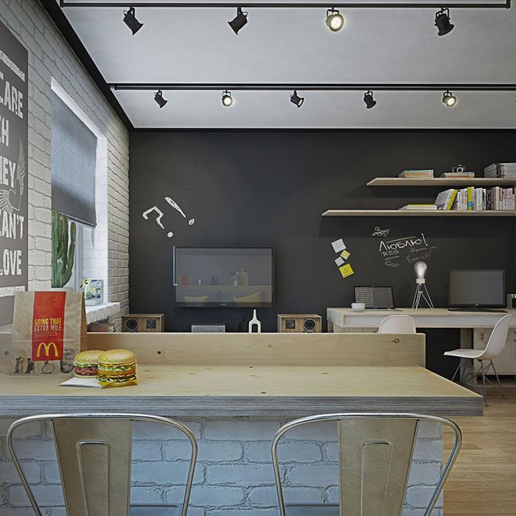Arredamento per un casa di 50 mq dal design moderno n.43