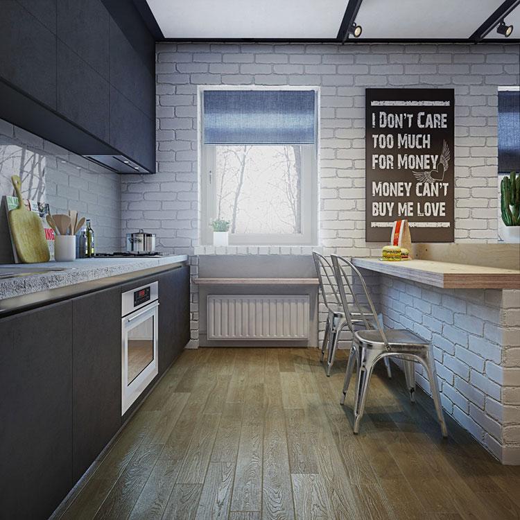 Arredamento per un casa di 50 mq dal design moderno n.44