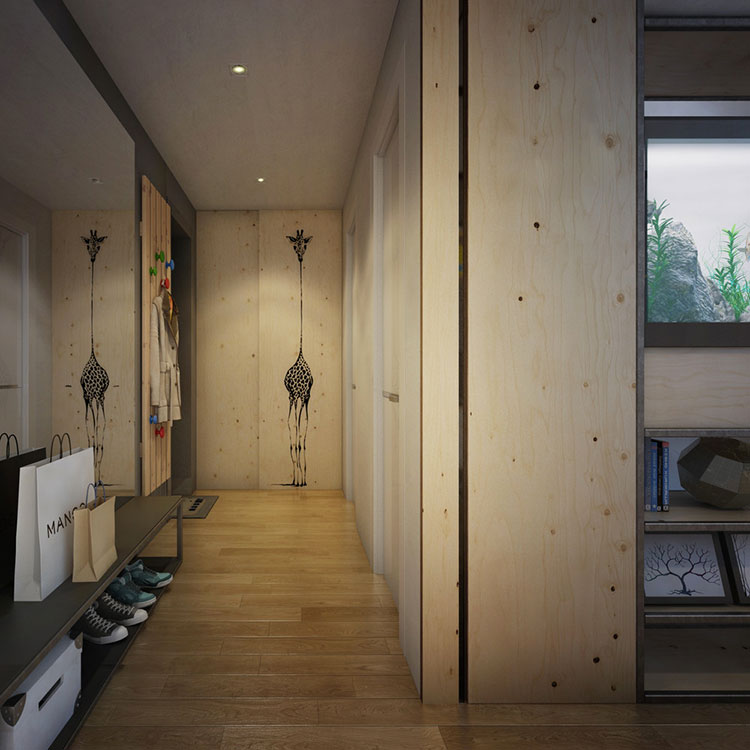 Arredamento per un casa di 50 mq dal design moderno n.46