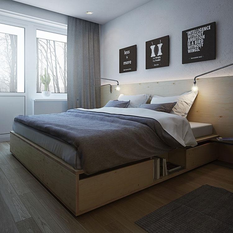 Arredamento per un casa di 50 mq dal design moderno n.47