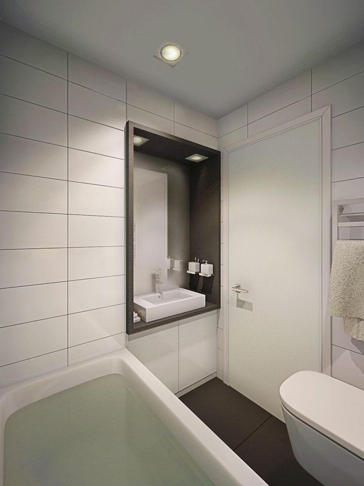Arredamento per un casa di 50 mq dal design moderno n.49