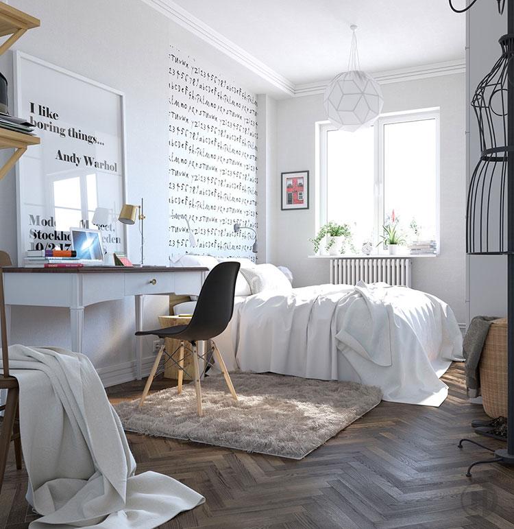 Arredamento per camera da letto dal design nordico n.04