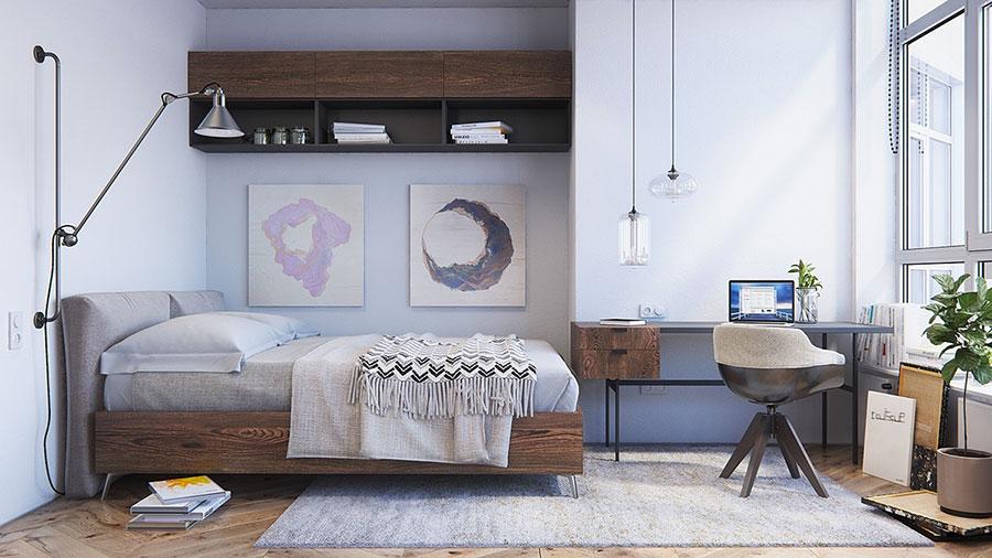 Arredamento per camera da letto dal design nordico n.05