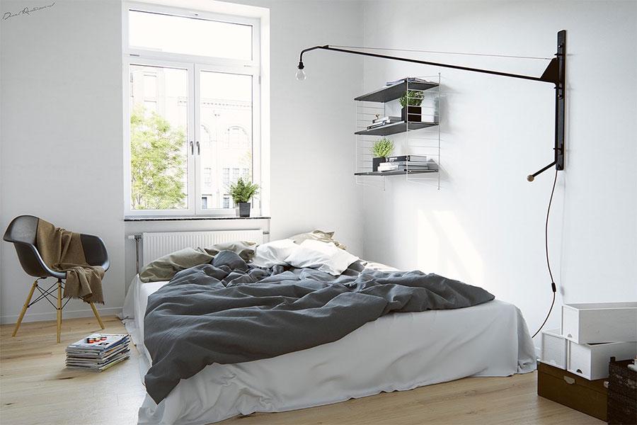 Arredamento per camera da letto dal design nordico n.07