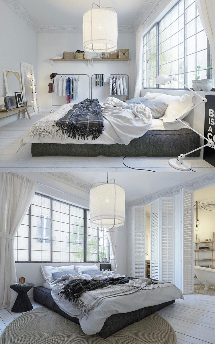 Arredamento per camera da letto dal design nordico n.08