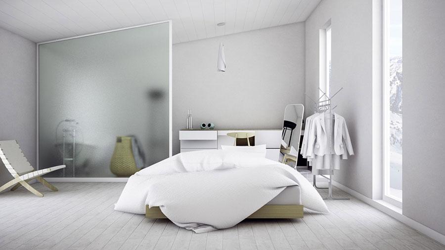 Arredamento per camera da letto dal design nordico n.01