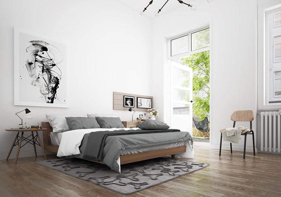 Arredamento per camera da letto dal design nordico n.11