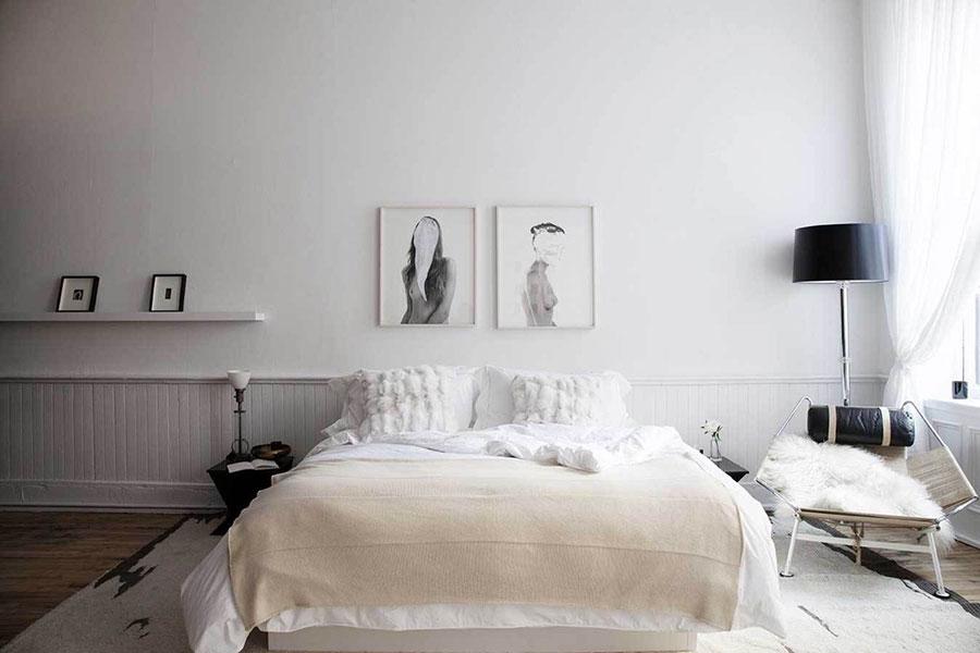 Arredamento per camera da letto dal design nordico n.12