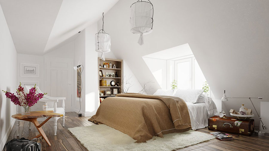 Arredamento per camera da letto dal design nordico n.14