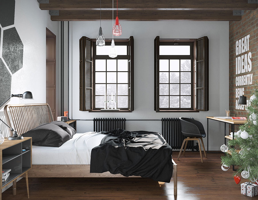 Arredamento per camera da letto dal design nordico n.17