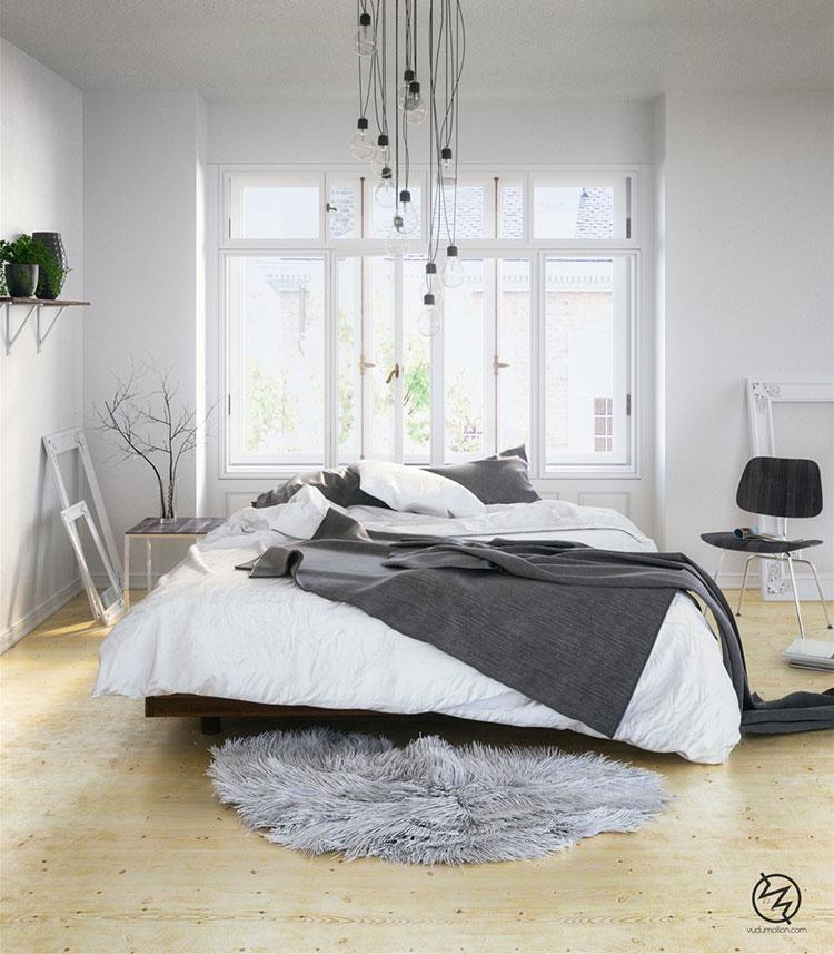 Arredamento per camera da letto dal design nordico n.19