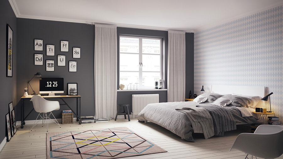 Arredamento per camera da letto dal design nordico n.21