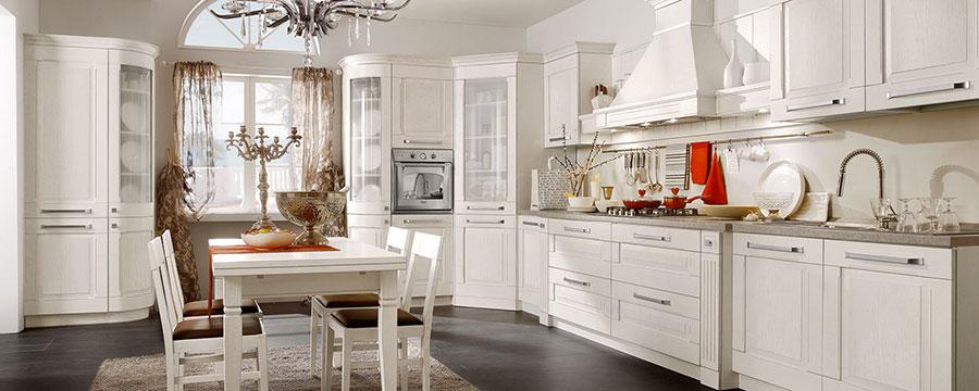 Modello di cucina classica bianca n.01