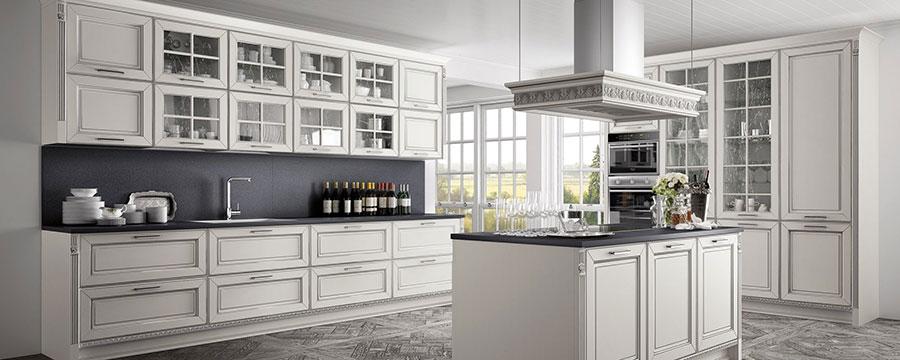 Modello di cucina classica bianca n.04