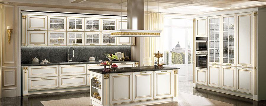 Modello di cucina classica bianca n.06