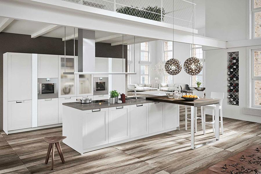 Modello di cucina classica bianca n.07